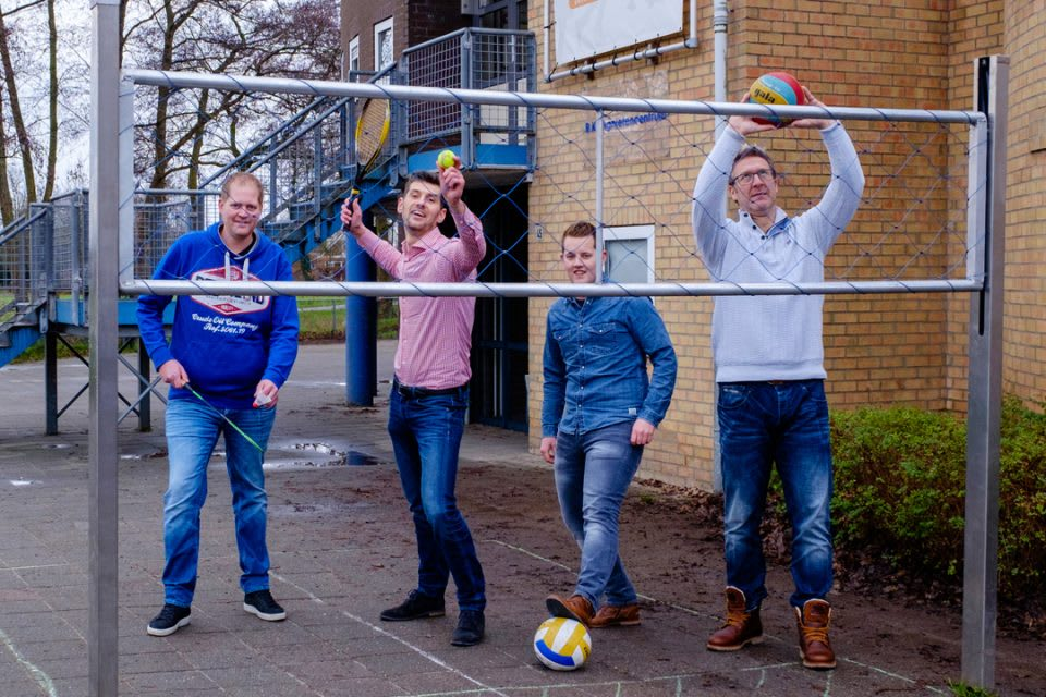 Ontwikkelaars Bart, Wim, Reinier en Dennis (vnlr)